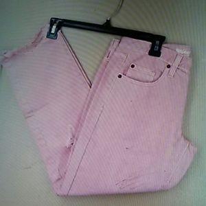 Size 2 MOSSIMO PINK BOYFRIEND RAW HEM CROP